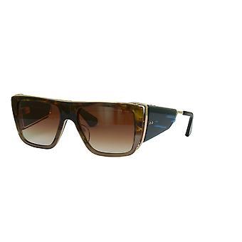Dita Souliner-One DTS127 02 Dark Brown Swirl on Crystal Brown/Brown Gradient Sunglasses