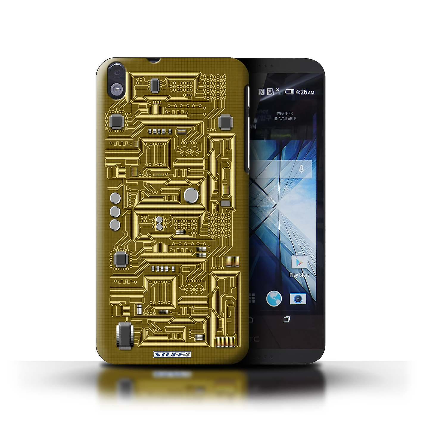 Stuff4 Case  Cover For Htc Desire 816g Dual  Yellow  Circuit