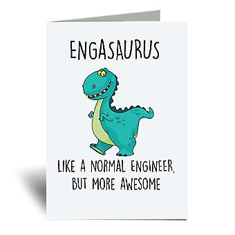 Engasaurus A6 Greeting Card