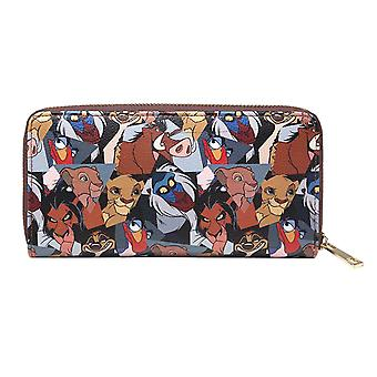 Lion King Purse Characters all over print Simba new Official Disney Zip Around