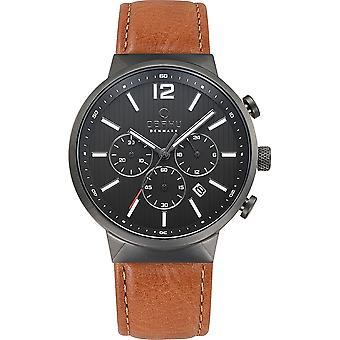 Obaku Storm Guntan Men's Wristwatch V180GCUURZ