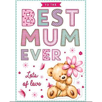 Eurowrap Best Mum Ever Mothers Day Greetings Card