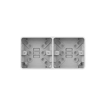 Schneider Electric GGBL9D25 2 Gang Dual Surface Mount Pattress Box 25mm