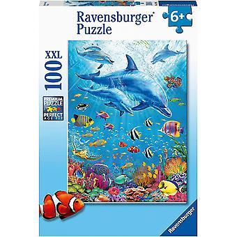 Ravensburger Pod af delfiner XXL 100pc puslespil