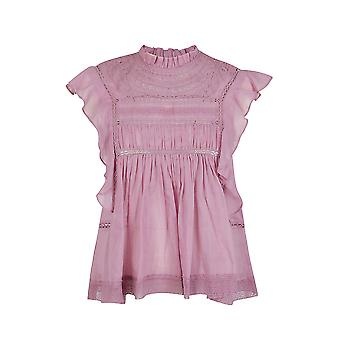 Isabel Marant ÉToile Ht10320p063e40pk Women's Pink Cotton Top