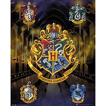 Harry Potter House Crests Mini juliste