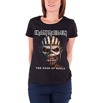 Iron Maiden T Shirt The Book Of Souls new Official Womens Skinny Fit Black