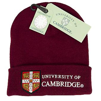 Licenseret Cambridge University™ ski hat Beanie Maroon Colour