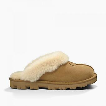UGG Coquette Ladies Sheepskin Mule Slippers Chestnut