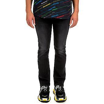 Balenciaga Ezcr006004 Men's Black Cotton Jeans
