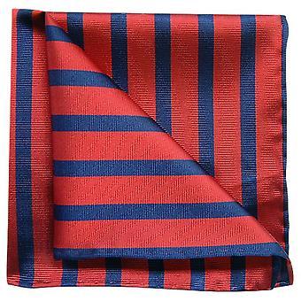 Tyler e Tyler listra bolso quadrado - vermelho/Marinha