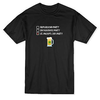Святого Патрика День партия политика графический Мужская футболка