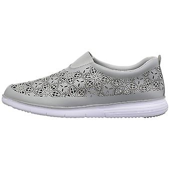 Propét Womens Hannah Leather Low Top Slip On Fashion Sneakers
