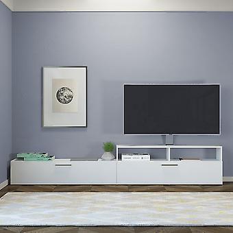 Mobile Porta TV Siri Color Bianco in Truciolare Melaminico 240x24x43 cm