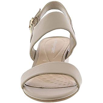 Easy Spirit Womens Elissa Leather Open Toe Casual Slingback Sandals