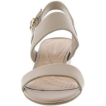 Fácil espírito Womens Elissa couro aberto Toe casual sandálias slingback