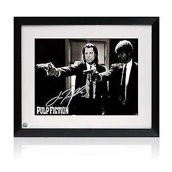 John Travolta Signed Pulp Fiction Poster: Divine Intervention. Framed