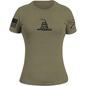 Grunt Style Women's Gadsden Basic T-Shirt - Military Green