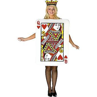 Drottningen av hjärtan kort Adult kostym