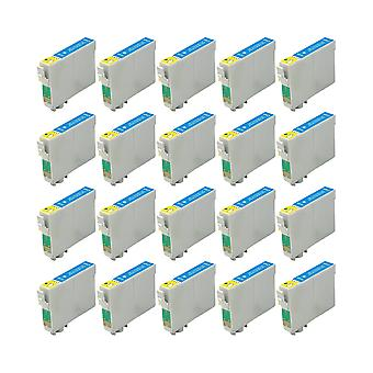 RudyTwos 20x Replacement for Epson Owl Ink Unit LightCyan Compatible with Stylus Photo 79, 1400, 1410, 1500W, P50, PX650, PX660, PX700W, PX710W, PX720WD, PX730WD, PX800, PX800FW, PX810FW, PX820FWD, PX