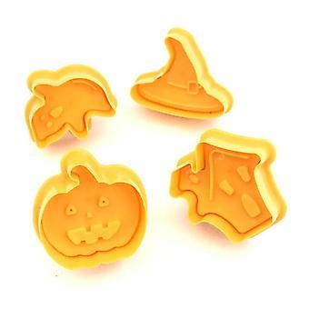 4 PC / SET Cookie Pečiatka Sušienky plesne tekvica Cookie Fondant - Cake Čokoláda Plesne - Kuchyňa DIY Strihanie na pečenie plesne