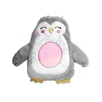 Christmas Penguin Hot Water Bottle With Crown