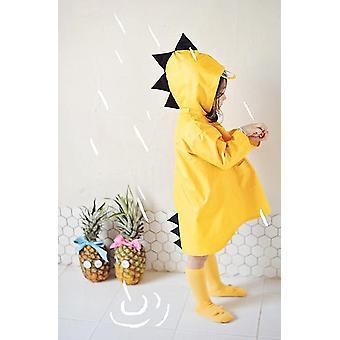 Cute Dinosaur Polyester Baby Raincoat - Outdoor Waterproof Rain Coat Boy Girl Rain Jacket