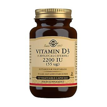 Vitamin D3 50 vegetable capsules of 55mg