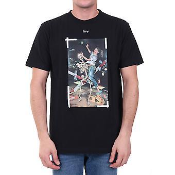 Off-white Omaa027f20fab0171001 Men's Black Cotton T-shirt