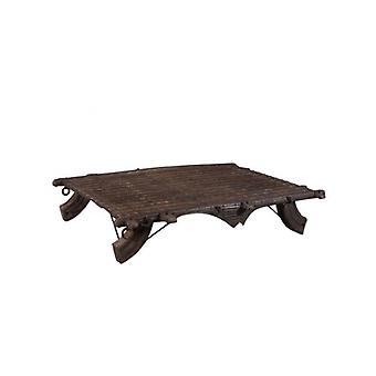 Deco4yourhome Wooden Wagon Coffee Table