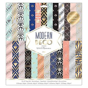 Papermania Modern Deco 12x12 Inch Paper Pad