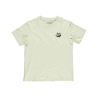 Zelda T Shirt Majoras Mask Back Print nouveau Officiel Femmes Skinny Fit Grey