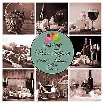 Dixi Craft Dixi Toppers Wine - Sepia 9x9cm