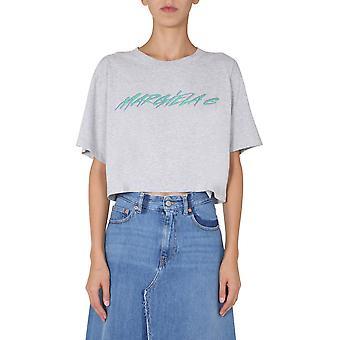 Mm6 Maison Margiela S52gc0168s23588858m Dames's Grijs Katoen T-shirt