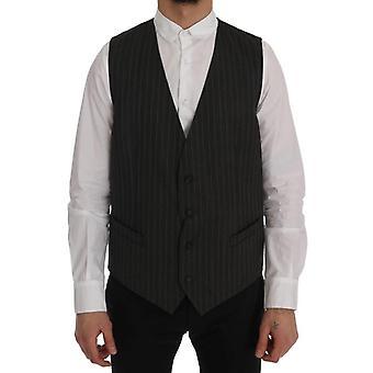 Dolce & Gabbana Gray Staff Wool Stretch Vest SIG60351-1