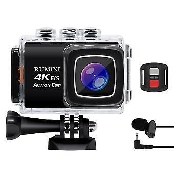 Hd 4k Action Sports Camera With Bulit-in Wifi Eis Function Waterproof Remote Controller Mic Video Record Cam Accessories