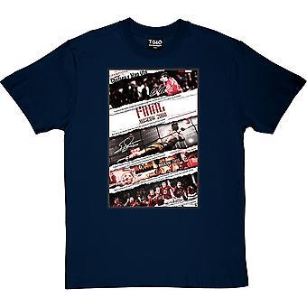 2008 Champions League Final Collage Navy Blue Men's T-Shirt