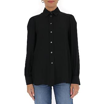 Semi-couture Y0wu01y690 Women's Black Cotton Shirt