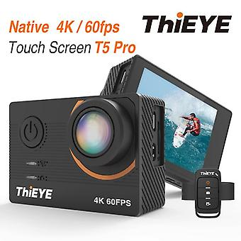 T5 Pro Ultra Hd 4k 60fps Touch Screen Wifi Action Camera Remote Control 60m Waterproof Cam With Eis At 4k