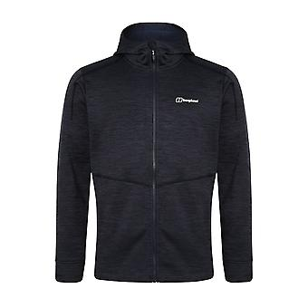 Berghaus Kamloops Mens Full Zip Hooded Fleece Jacket Coat Dark Blue