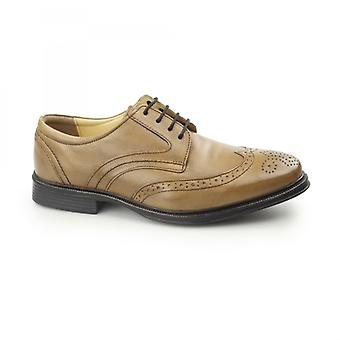 Cotswold Mickleton Mens Leather Derby Shoes Tan