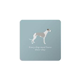 Bailey and Friends Dog Coaster Whippet Blue