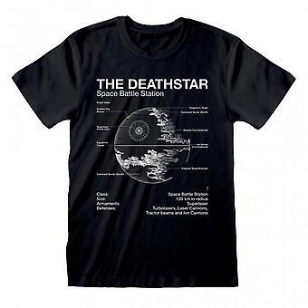 Star Wars Unisex Adult Death Star T-paita
