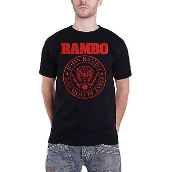 Rambo T Shirt Red Seal Movie Logo new Official Mens Black