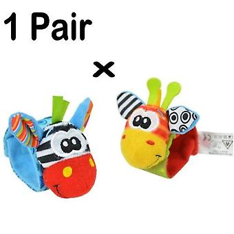 New Baby Infant Soft Toy Wrist Rattles Finders Developmental Bells Foot Sock