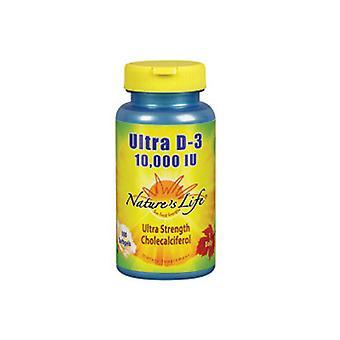 Nature's Life Ultra D-3, 10,000 IU, 100 Softgels