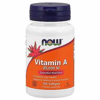 Now Foods Vitamin A, 25,000 IU, 100 Softgels