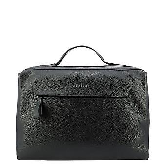 Orciani P00712micronnero Men's Black Leather Briefcase