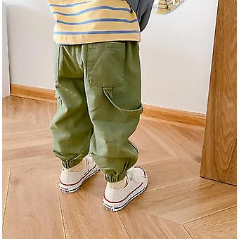 Spring Autumn Boys Girls Cargo Pants Kids Casual All-match Trousers 1-7y