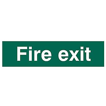 Scan Fire Exit Text Only - PVC 200 x 50mm SCA5204
